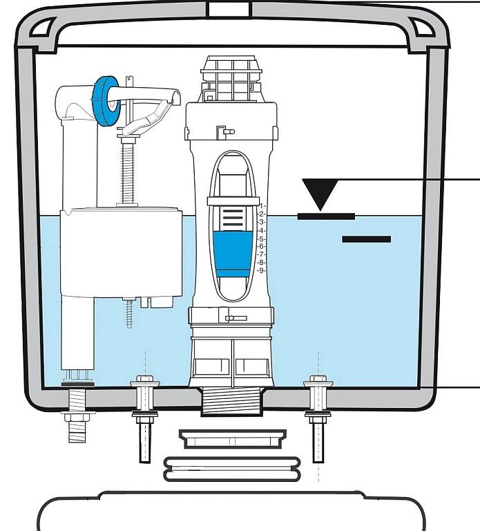 как отрегулировать двойной слив воды в унитазе